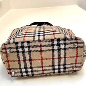 Vintage Bags - Plaid Canvas Tote Shoulder Bag